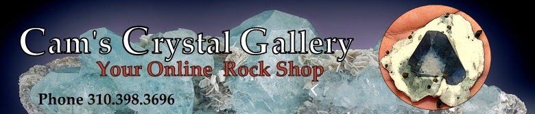 Cam's Crystal Gallery -- Fine quality gems, minerals, crystals, fossils and jewelry